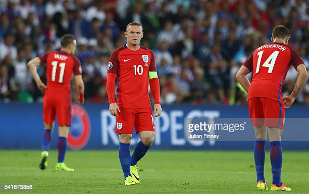 Wayne Rooney of England is seen during the UEFA EURO 2016 Group B match between Slovakia and England at Stade GeoffroyGuichard on June 20 2016 in...
