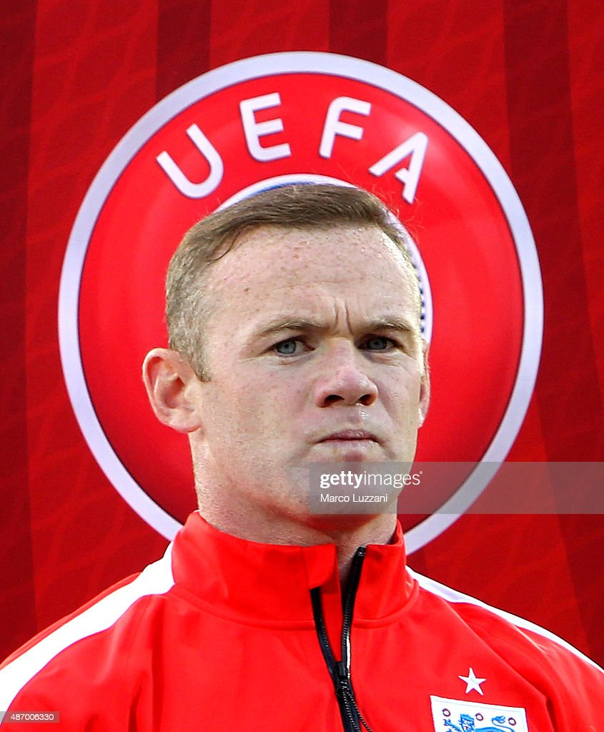 Wayne Rooney of England looks on before the UEFA EURO 2016 Qualifier between San Marino and England at Stadio Olimpico on September 5, 2015 in San Marino, Italy.