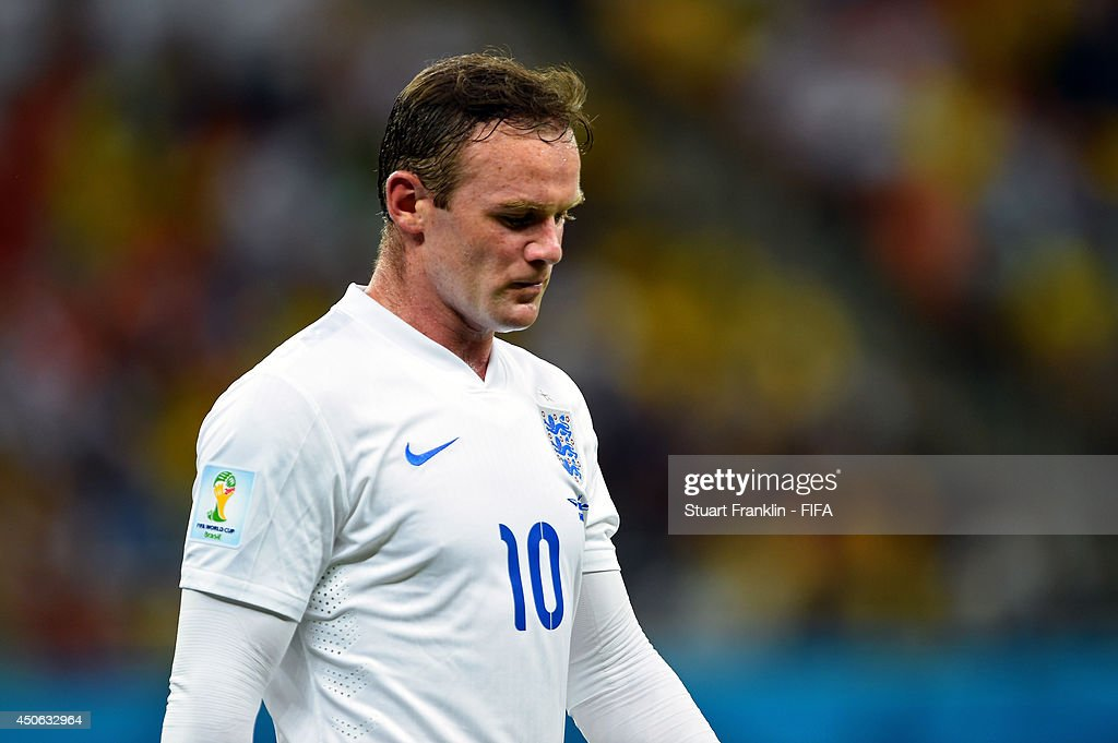 Wayne Rooney of England looks on during the 2014 FIFA World Cup Brazil Group D match between England and Italy at Arena Amazonia on June 14, 2014 in Manaus, Brazil.