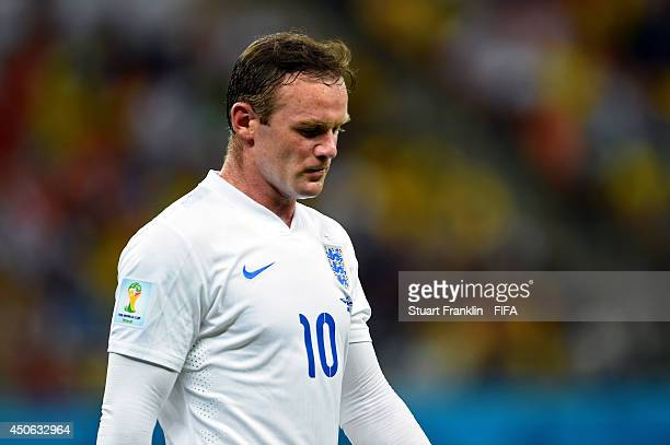 Wayne Rooney of England looks on during the 2014 FIFA World Cup Brazil Group D match between England and Italy at Arena Amazonia on June 14 2014 in...