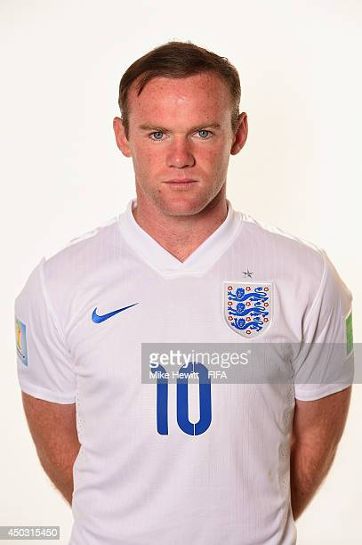 Wayne Rooney of England poses during the official FIFA World Cup 2014 portrait session on June 8 2014 in Rio de Janeiro Brazil