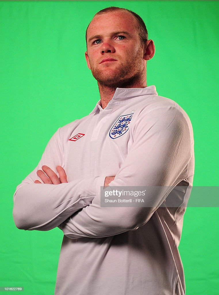 Wayne Rooney of England poses for the FIFA TV during the FIFA portrait session on June 4, 2010 in Rustenburg, South Africa.