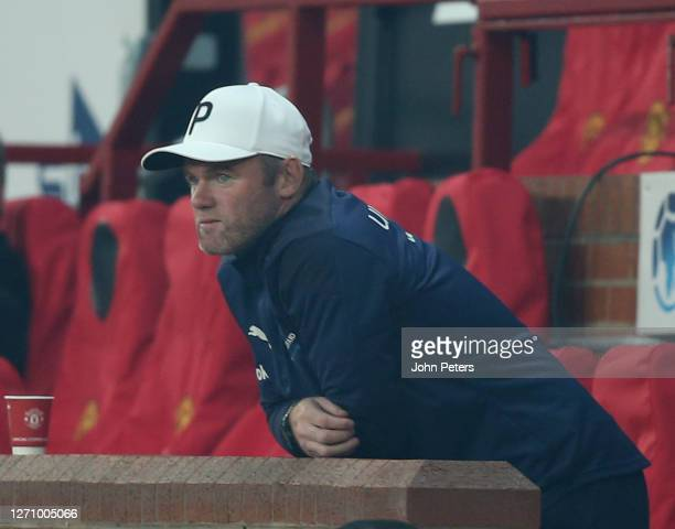 Wayne Rooney of England watches from the bench during the Soccer Aid for Unicef 2020 match between England and Rest of the World at Old Trafford on...