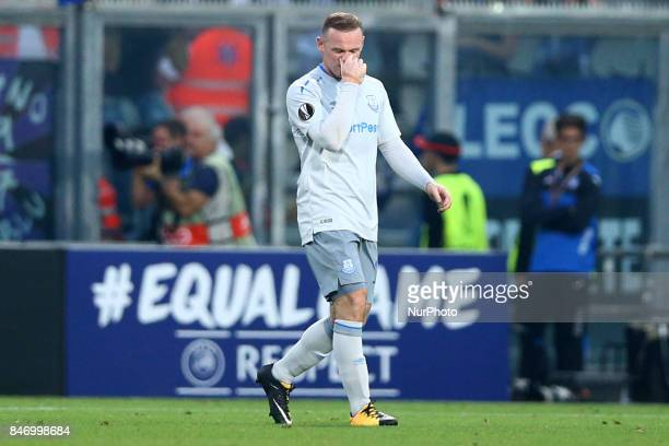 Wayne Rooney of Everton after the goal of 20 during the UEFA Europa League Group E football match Atalanta vs Everton at The Stadio Città del...