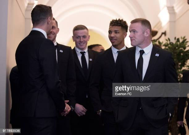 Wayne Rooney of Everton arrives during the Everton in the Community Gala Dinner at St Georges Hall on February 13 2018 in Liverpool England