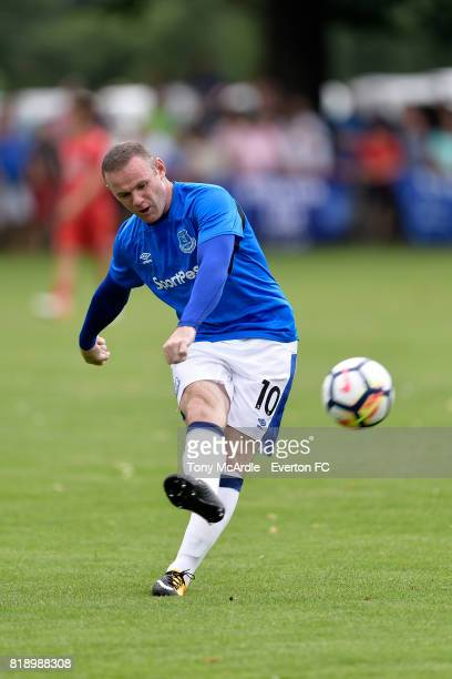 Wayne Rooney of Everton before the preseason friendly match between FC Twente and Everton FC on July 19 2017 in De Lutte Netherlands