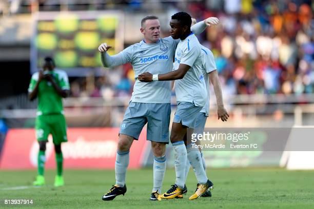 Wayne Rooney of Everton celebrates scoring against Gor Mahia during a PreSeason Friendly on July 13 2017 in Dar es Salaam Tanzania
