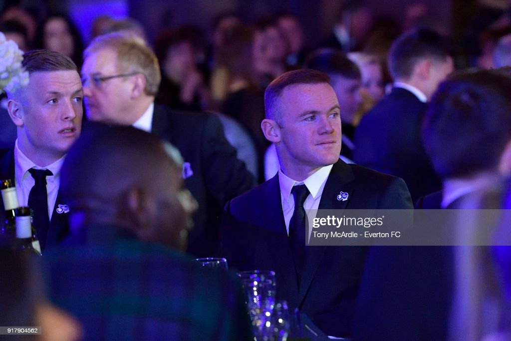Wayne Rooney of Everton during the Everton in the Community Gala Dinner at St George's Hall on February 13, 2018 in Liverpool, England.