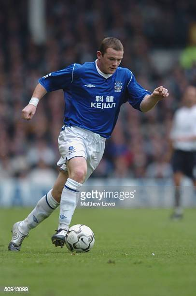 Wayne Rooney of Everton during the FA Barclaycard Premiership match between Everton and Bolton Wanderers at Goodison Park on May 8 2004 in Liverpool...