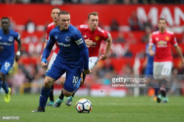 Wayne Rooney of Everton during the Premier League match between Manchester United and Everton at Old Trafford on September 17 2017 in Manchester...