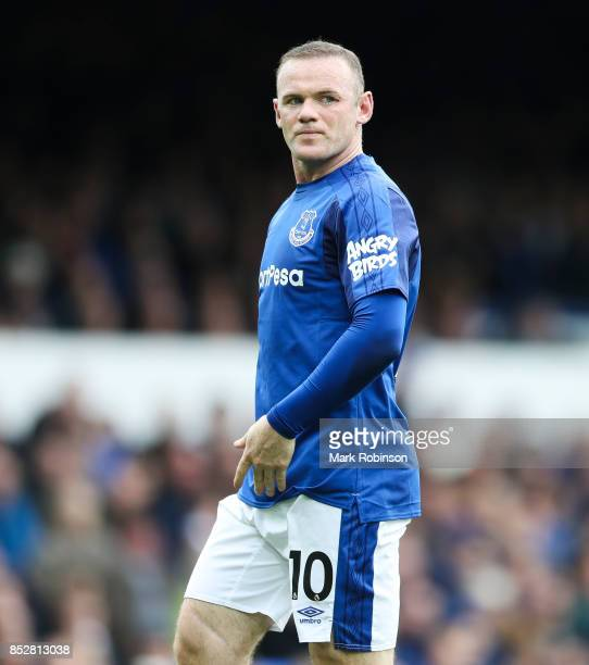 Wayne Rooney of Everton during the Premier League match between Everton and AFC Bournemouth at Goodison Park on September 23 2017 in Liverpool England