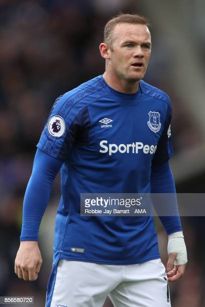 Wayne Rooney of Everton during the Premier League match between Everton and Burnley at Goodison Park on October 1 2017 in Liverpool England