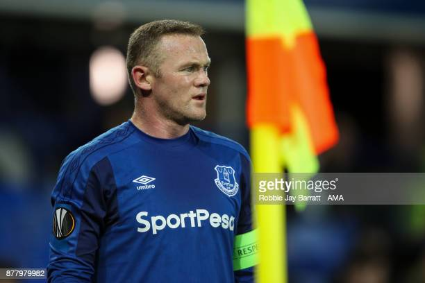 Wayne Rooney of Everton during the UEFA Europa League group E match between Everton FC and Atalanta at Goodison Park on November 23 2017 in Liverpool...