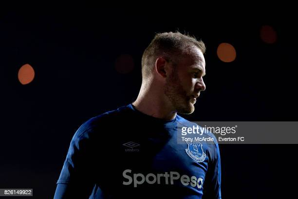 Wayne Rooney of Everton during UEFA Europa League Qualifier match between MFK Ruzomberok and Everton on August 3 2017 in Ruzomberok Slovakia