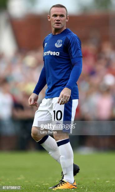 Wayne Rooney of Everton gestures during a preseason friendly match between FC Twente and Everton FC at Sportpark de Stockakker on July 19 2017 in De...