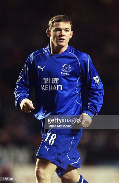 Wayne Rooney of Everton in action during the FA Barclaycard Premiership match between Charlton Athletic and Everton held on February 8 2003 at The...