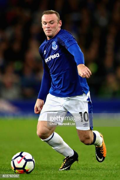 Wayne Rooney of Everton in action during the UEFA Europa League Third Qualifying Round First Leg match between Everton and MFK Ruzomberok at Goodison...