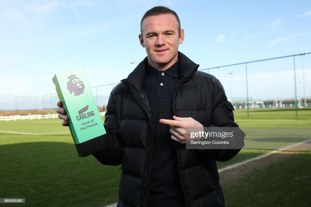 Wayne Rooney wins the Carling Premier League Goal of the Month Award for November 2017
