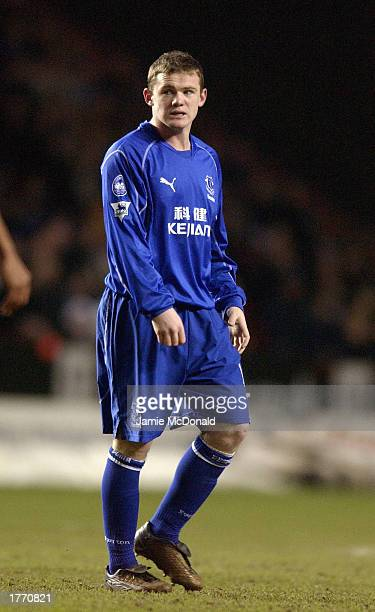 Wayne Rooney of Everton runs during the FA Barclaycard Premiership match between Charlton Athletic and Everton at The Valley in London England on...