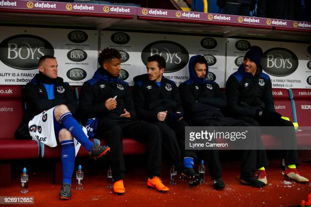 Wayne Rooney of Everton sits on the bench before the Premier League match between Burnley and Everton at Turf Moor on March 3 2018 in Burnley England...