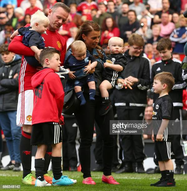 Wayne Rooney of Manchester United and his wife Coleen on the pitch after the Premier League match between Manchester United and Crystal Palace at Old...