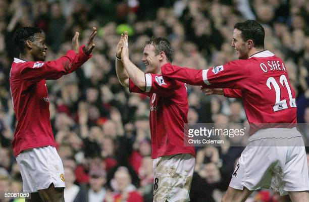 Wayne Rooney of Manchester United celebrates scoring the second goal during the FA Cup Fourth Round match between Manchester United and Middlesbrough...