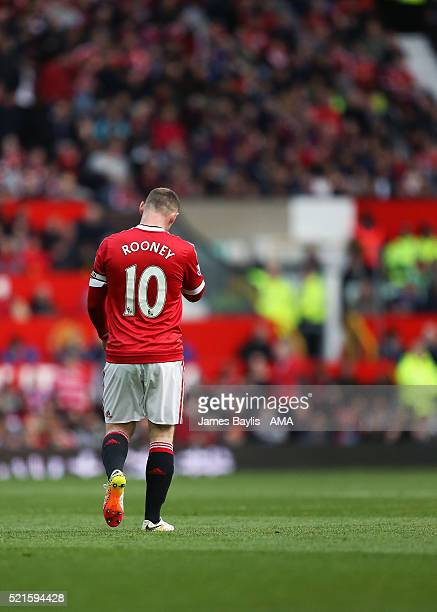 Wayne Rooney of Manchester United during the Barclays Premier League match between Manchester United and Aston Villa at Old Trafford on April 16 2016...