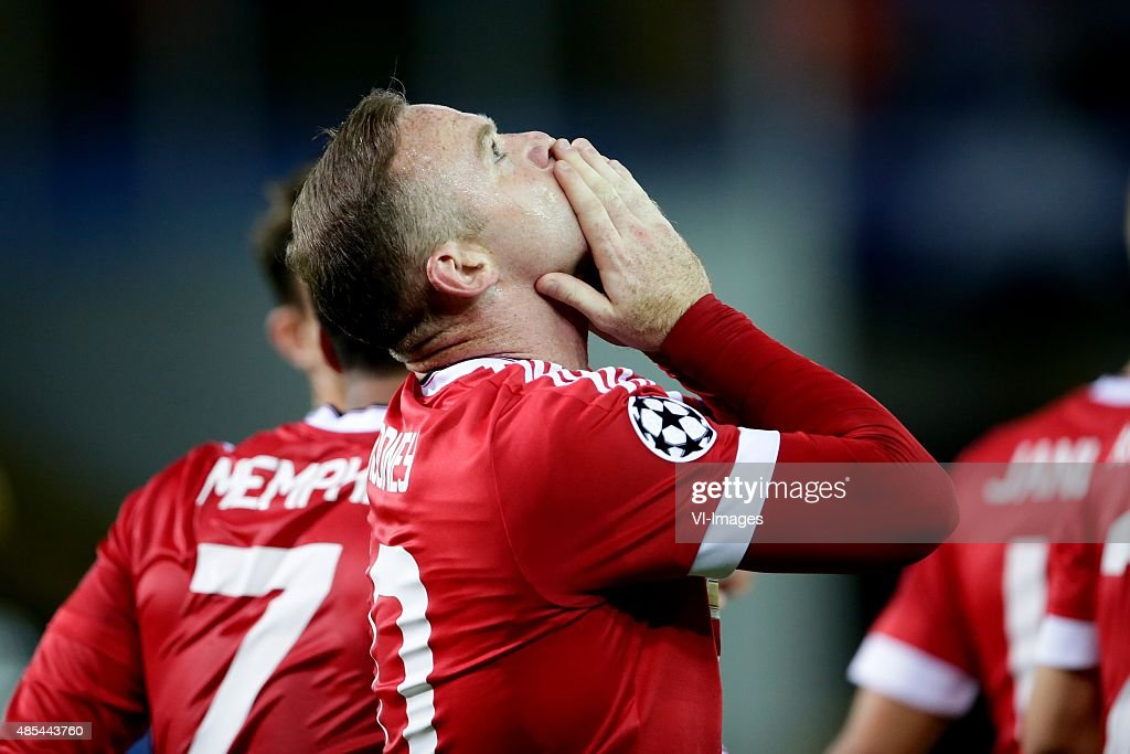 """Champions league play-offs - """"Club Brugge v Manchester United"""" : News Photo"""
