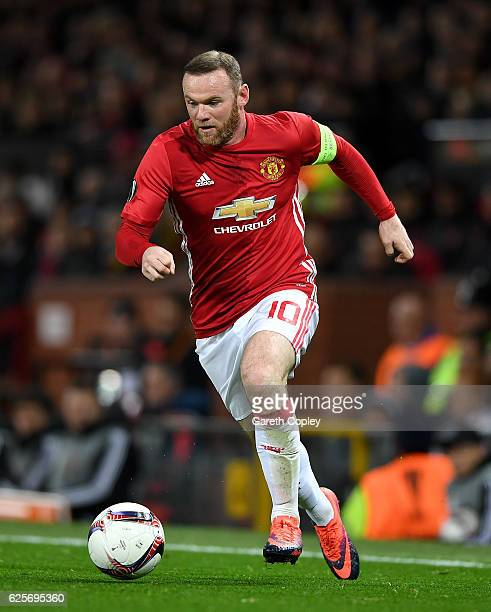 Wayne Rooney of Manchester United during the UEFA Europa League match between Manchester United FC and Feyenoord at Old Trafford on November 24 2016...