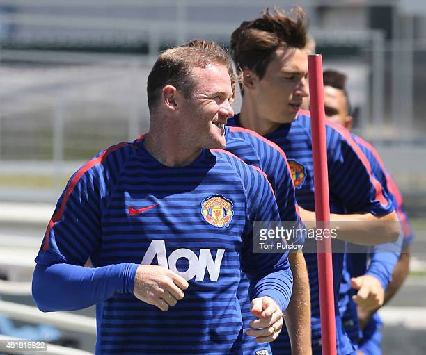 Wayne Rooney of Manchester United in action during a first team training session as part of their preseason tour of the USA at Avaya Stadium on July...