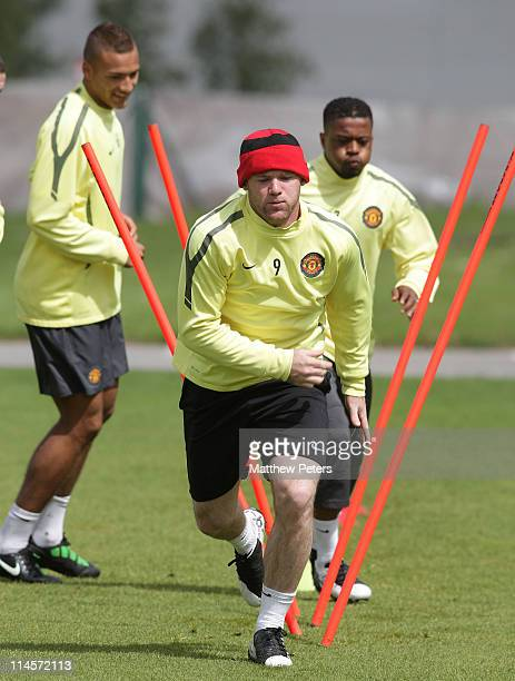 Wayne Rooney of Manchester United in action during a first team training session ahead of their UEFA Champions League Final match against Barcelona...