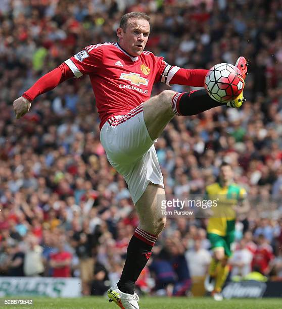 Wayne Rooney of Manchester United in action during the Barclays Premier League match between Norwich City and Manchester United at Carrow Road on May...