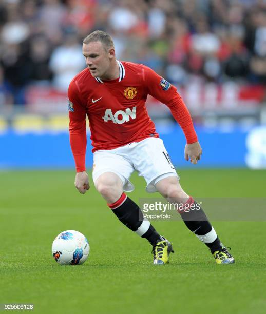 Wayne Rooney of Manchester United in action during the Barclays Premier League match between Bolton Wanderers and Manchester United at the Reebok...