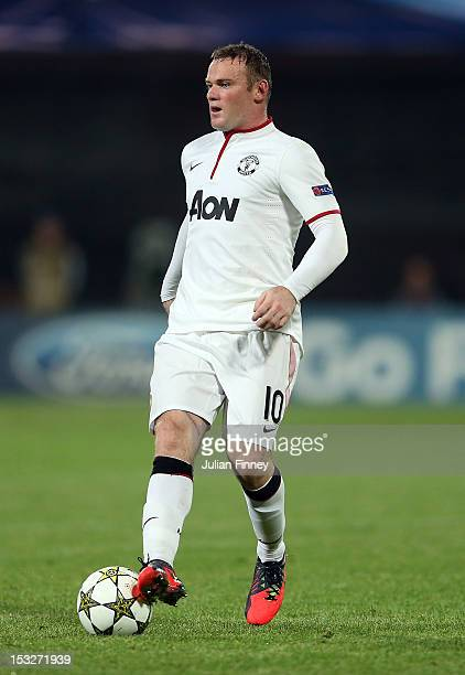 Wayne Rooney of Manchester United in action during the UEFA Champions League Group H match between CFR 1907 Cluj and Manchester United at the...