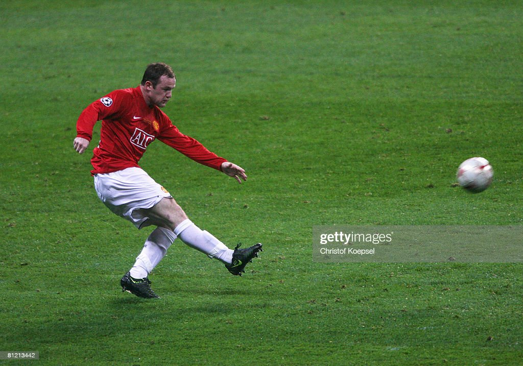 Wayne Rooney of Manchester United in action during the UEFA Champions League Final match between Manchester United and Chelsea at the Luzhniki Stadium on May 21, 2008 in Moscow, Russia.