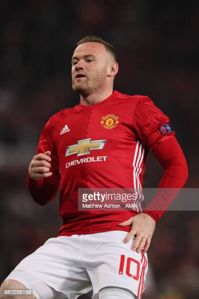 Wayne Rooney of Manchester United in action during the UEFA Europa League semi final second leg match between Manchester United and Celta Vigo at Old...