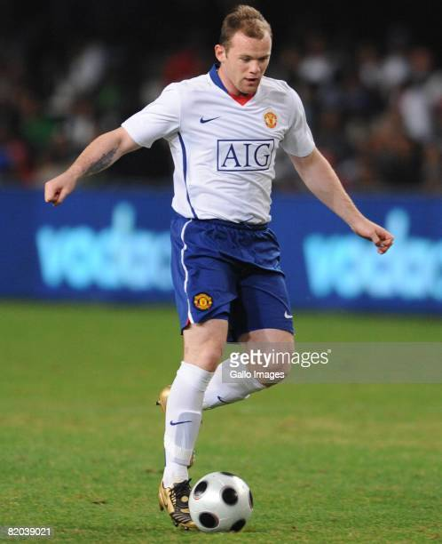 Wayne Rooney of Manchester United in action during the Vodacom Challenge match between Orlando Pirates and Manchester United held at the Absa Stadium...