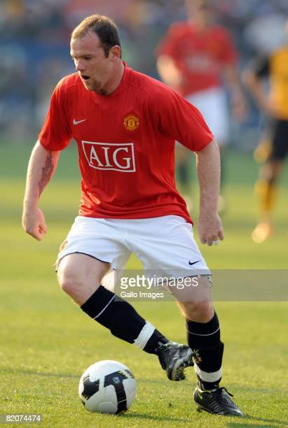 Wayne Rooney of Manchester United in action during the Vodacom Challenge preseason friendly match between Kaizer Chiefs and Manchester United during...