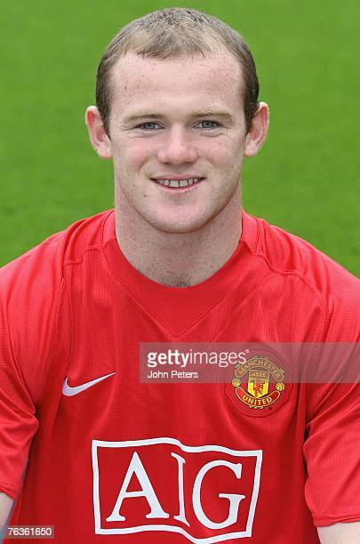 Wayne Rooney of Manchester United poses during the club's official annual photocall at Old Trafford on August 28 2007 in Manchester England