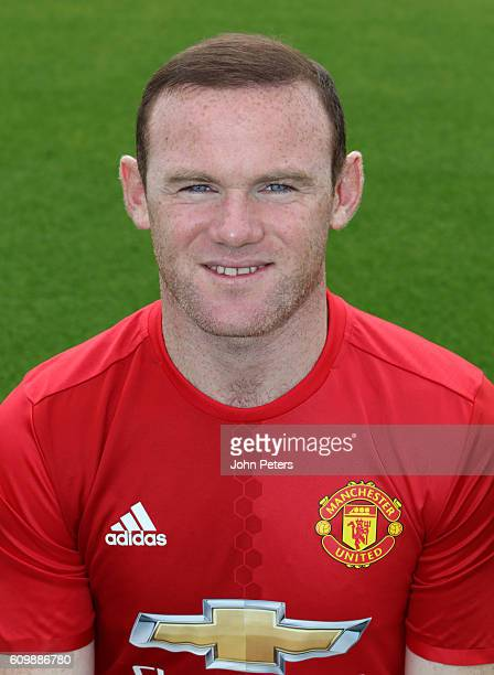 Wayne Rooney of Manchester United poses for a portrait at the Manchester United Official Photocall on September 19 2016 in Manchester England