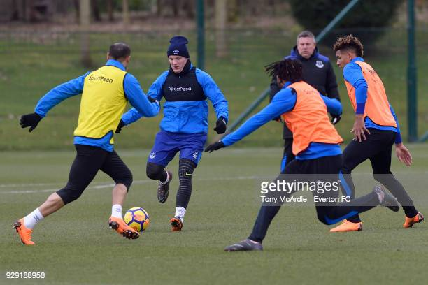 Wayne Rooney on the ball during an Everton FC training session at USM Finch Farm on March 6 2018 in Halewood England