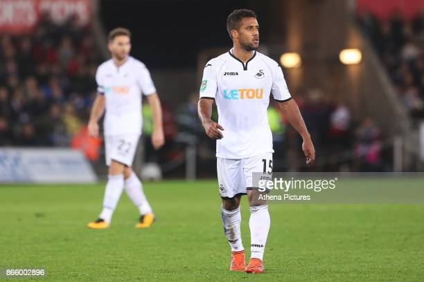 Wayne Routledge of Swansea City during the Carabao Cup Fourth Round match between Swansea City and Manchester United at the Liberty Stadium on...