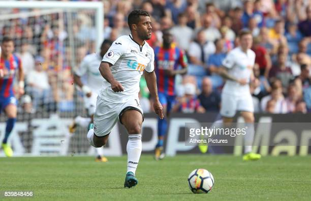 Wayne Routledge of Swansea City during the Premier League match between Crystal Palace and Swansea City at Selhurst Park on August 26 2017 in London...