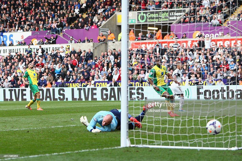 Swansea City v Norwich City - Premier League : Fotografía de noticias