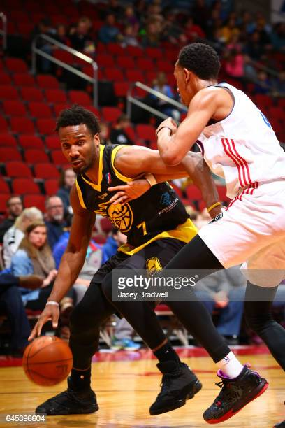 Wayne Selden of the Iowa Energy drives around the Long Island Nets in an NBA DLeague game on February 24 2017 at the Wells Fargo Arena in Des Moines...
