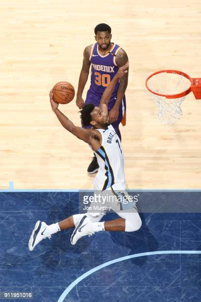 Wayne Selden of the Memphis Grizzlies dunks against the Phoenix Suns on January 29 2018 at FedExForum in Memphis Tennessee NOTE TO USER User...