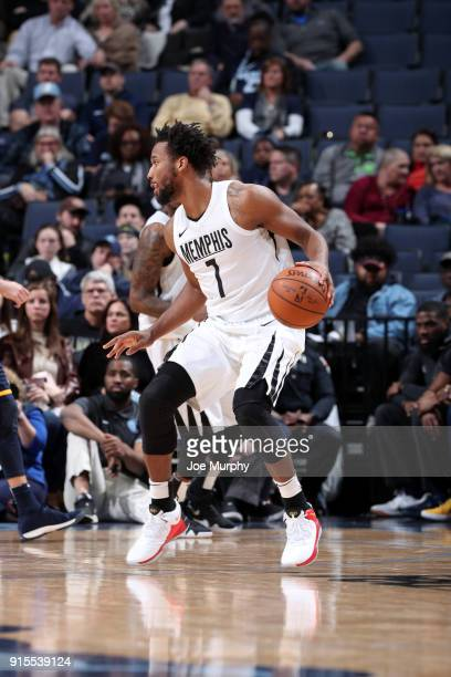 Wayne Selden of the Memphis Grizzlies handles the ball against the Utah Jazz on February 7 2018 at FedExForum in Memphis Tennessee NOTE TO USER User...