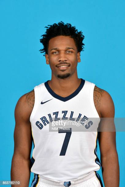 Wayne Selden of the Memphis Grizzlies poses for a head shot during Memphis Grizzlies Media Day on September 25 2017 at FedExForum in Memphis...