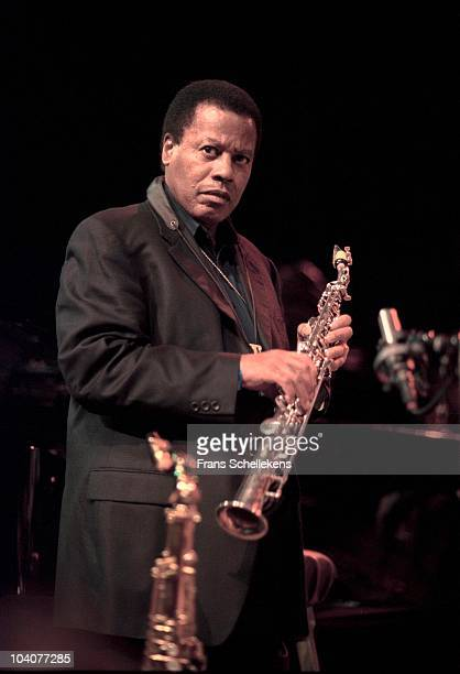 Wayne Shorter performs on stage on July 12 2002 in The Hague, Netherlands.