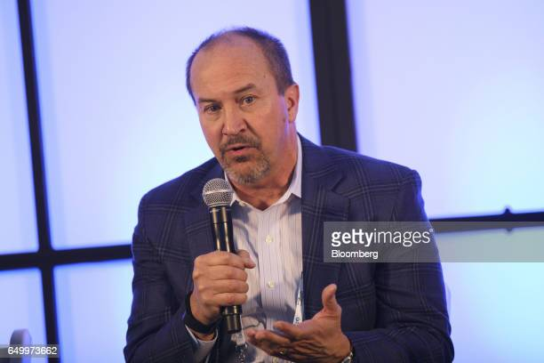 Wayne Shurts executive vice president and chief technology officer of Sysco Corp speaks during The Montgomery Summit in Santa Monica California US on...